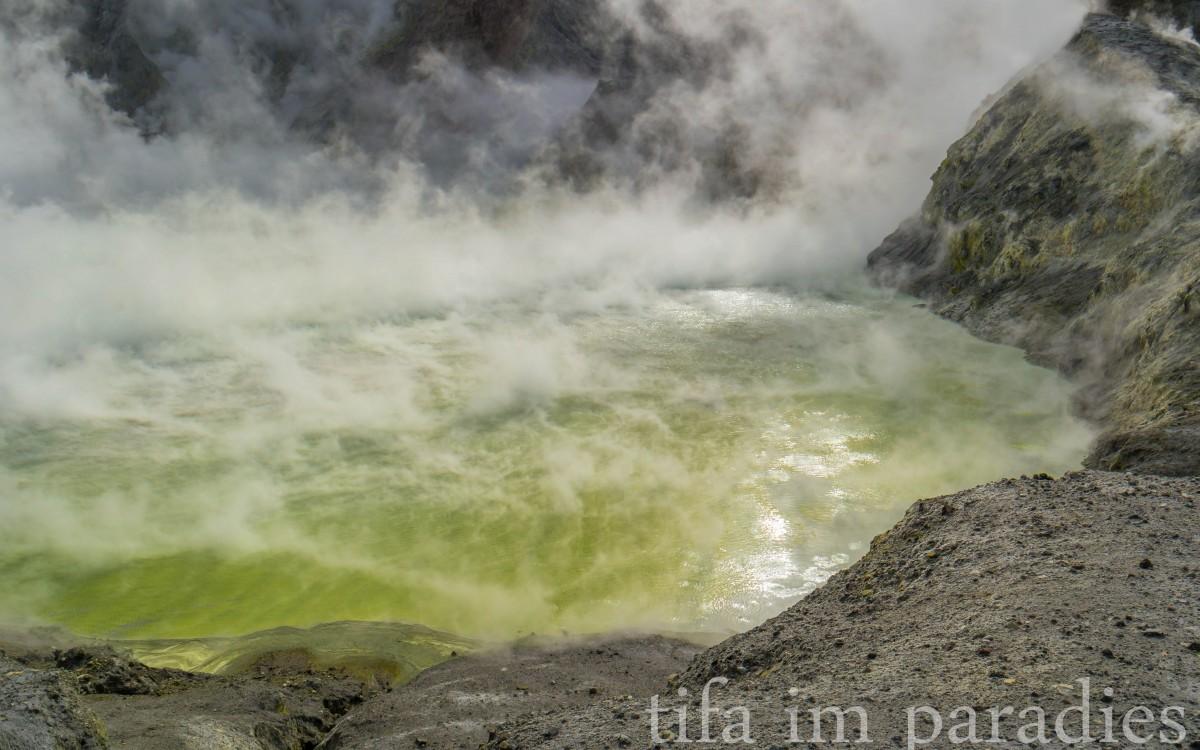 Kratersee auf White Island