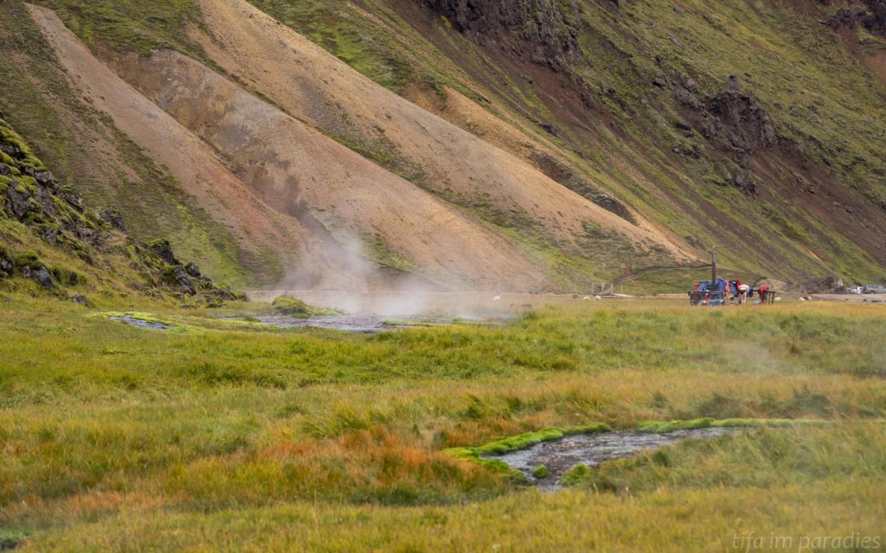 Heiße Quellen in Landmannalaugar