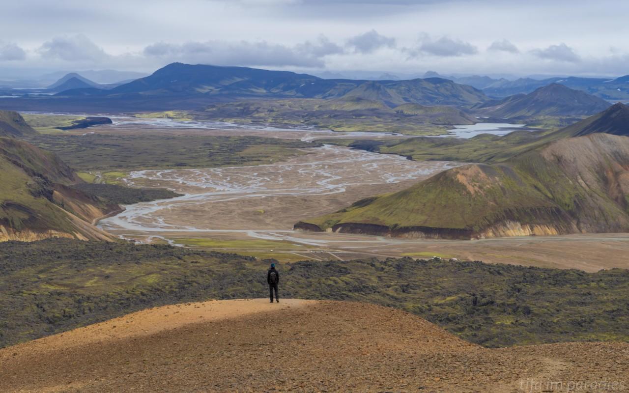 Aussicht vom Vulkan Brennisteinsalda