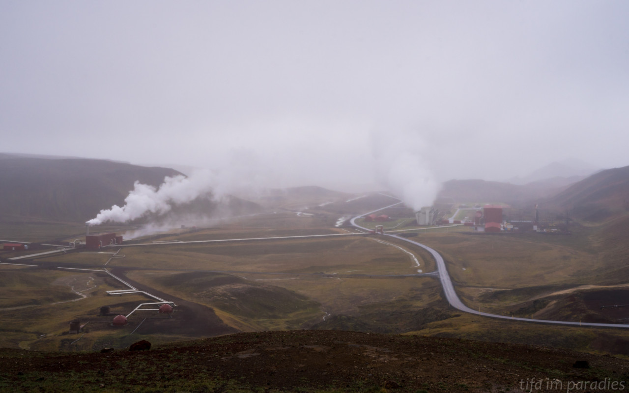 Kraftwerk im Krafla-Gebiet